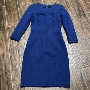 JCrew blue fitted dress